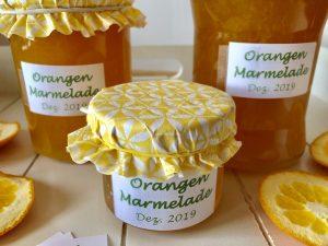 Fruchtige Orangenmarmelade mit Zimt