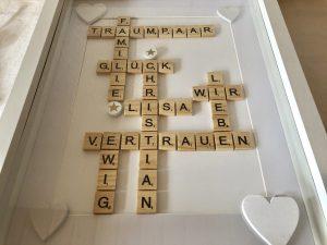 Scrabble Glückwünsche zur Hochzeit