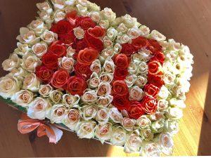 Rosengesteck zum 80. Geburtstag basteln
