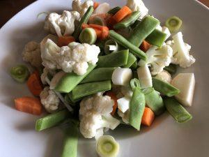Bunte Gemüsemischung für einen Auflauf